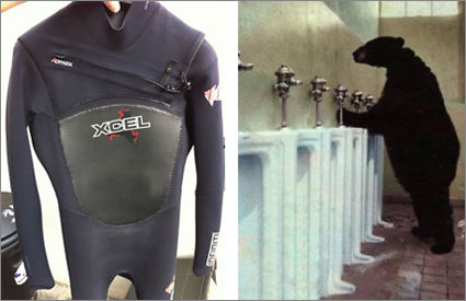Xcel-wetsuit-and-bear-pissing