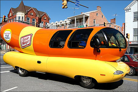List Oscar Mayer Wienermobiles Throughout History also Pollas as well 1011367959388 as well A Weinermobile Visits Milwaukee No Baloney likewise Voitures Insolites. on oscar mayer weenie