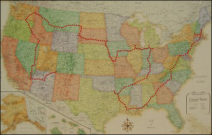 Sponsor gives road trip an awkward twist – Adweek on 48 states on a motorcycle, american road map, 48 states in 48 days, hands across america map, usa map, us travel map, us landmarks to visit driving map, 48 state motorcycle ride map, ky mammoth cave national park map, 48 states in 10 days route, large united states time zone map, louisville zip code map, all 48 states road map, 48 states list,