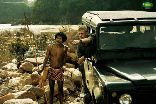 Land Rover owners, always with a leg up on the indigenous peoples ...