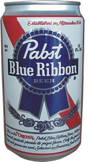 so that you can hopefully  Pabst Blue Ribbon Tall Can